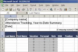 Tracking Employee Time Off Excel Template Employee Attendance Tracking Ms Excel Template