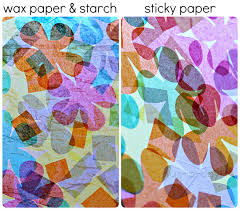 Wax Paper Flower Two Ways To Make Tissue Paper Stained Glass Art For Spring