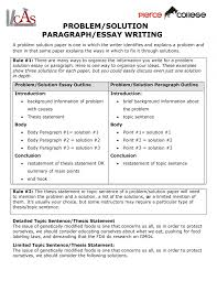 Problem Solution Paragraph Essay Writing Eng English How To