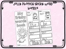 Initially it is sensible to make sure the children know how to blend the words that are not underlined before using the underlined ones. Jolly Phonics Tricky Words Group 2 You Your Come Some Said Here There They Go No So My Mash Ie