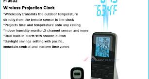 clock that projects time on ceiling wireless weather station projection clock atomic clock that projects time on ceiling alarm clock that projects time onto