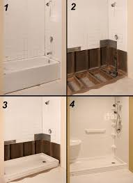 tub to shower conversion the refreshing remodelbathroom remodeling