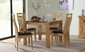 dining room chairs oak. tate oak and glass square dining table - with 4 bali chairs (brown seat pad) room