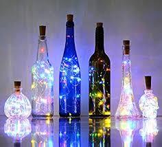Decorative Wine Bottles With Lights Set of 100 Multicolor Wine Bottle Cork Lights Copper wire String 30