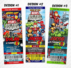 superheroes birthday party invitations super hero squad superhero birthday party ticket invitation