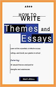com how to write themes essays rd ed arco s how to  how to write themes essays 3rd ed arco s how to