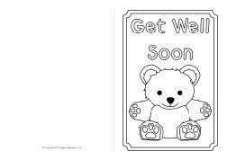 Free greeting card and envelope templates for kids to print out and craft into greeting cards for birthdays, mother's day, father's day, valentine's day, and other special occasions. Get Well Soon Card Colouring Templates Sb8890 Sparklebox Thank You Cards From Kids Printable Greeting Cards Free Get Well Cards
