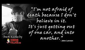Dark Quotes Awesome I'm Not Afraid Of DeathDark Quote HORROR PALACE™