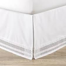 girls bed skirt. Simple Girls Diamond Eyelet Organic Bedskirt To Girls Bed Skirt J