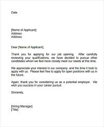 10 Internship Rejection Letters Free Sample Example Format