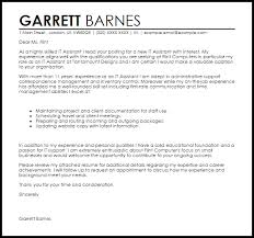 Cover Letter For It Assistant It Assistant Cover Letter Sample Cover Letter Templates
