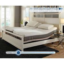 king mattress. Interesting Mattress Sleep Science 9u201d Natural Latex SplitKing Mattress With Adjustable Power  Base On King A