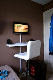 diy wall mounted standing desk. Exellent Desk Get Things Done While Standing U2013 10 DIY Desk Designs To You  Inspired For Diy Wall Mounted M