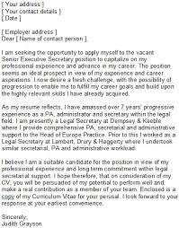 Fresh Cover Letter For Secretary Position At School Secretary Cover