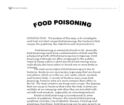 food poisoning gcse design technology marked by teachers com document image preview