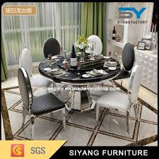 chinese stainless steel furniture marble round dining table china dining room furniture restaurant table