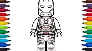 Iron Man Lego Coloring Pages Wumingme