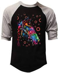 Black Light T Shirts Clothing Amazon Com Interstate Apparel Inc Dean Russo Neon Black