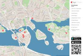 stockholm printable tourist map  sygic travel