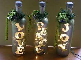 decorated wine bottle lights without drilling 17