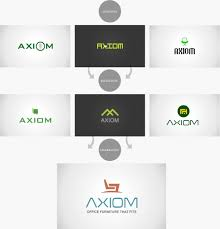 Axiom Office Furniture Logo Design Logo Design Process Logo