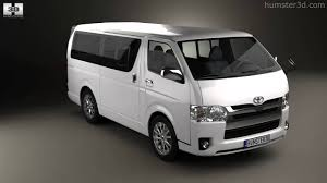 Toyota HiAce LWB Combi 2013 by 3D model store Humster3D.com - YouTube