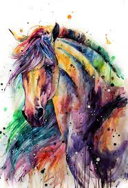 rainbow horsey by elenashved on deviantart