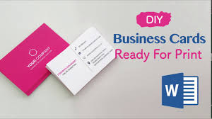 Print My Own Card Design How To Create Your Business Cards In Word Professional And Print Ready In 4 Easy Steps