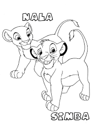 Small Picture Coloring Pages For Kids Lion King Simba And Nala Cartoon