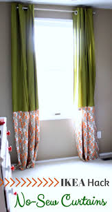 ikea no sew curtains by just a girl and her blog