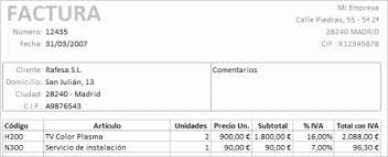 Formatos De Factura Plantilla Excel Para Factura