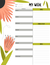 My Weekly Schedule
