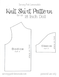 Free Printable Doll Clothes Patterns For 18 Inch Dolls Awesome Decoration