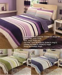contemporary stripes printed duvet cover