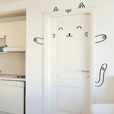 Home decor Cutest door decoration.perfect for kids room. Sisi the Smug Cat  Door decal / Wall decal for by MadeofSundays