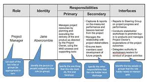 Corporate Roles And Responsibilities Template Project