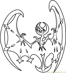Small Picture Lunala Pokemon Sun and Moon Coloring Page Free Pokmon Sun and