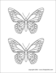 Printable Butterfly Outline Butterflies Free Printable Templates Coloring Pages