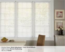 allen roth 2 inch faux wood custom blinds photo gallery window