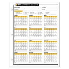 Employee Attendance Sheet In Excel For Office Amazon Com 2019 Attendance Calendar 50 Sheets Package On