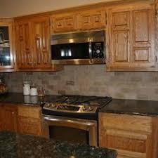Pleasing Kitchen Floor Ideas For Oak Cabinets Impressive