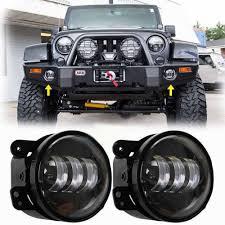 2x DOT 4 Led Fog Headlights for froad Jeep Wrangler Dodge Chrysler Front Bumper Boat Lamps