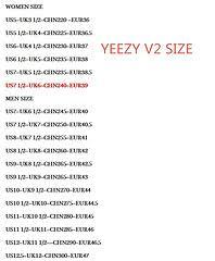 Yeezy Boost 350 V2 Sizing Chart Bedowntowndaytona Com