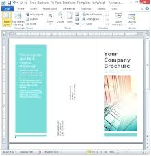 Tri Fold Brochure Publisher Template Timetoreflect Co