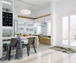 White Modern Kitchen Interior Design Ideas - White modern kitchen