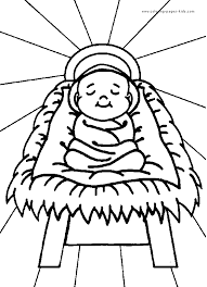 Baby Jesus Christmas Coloring Pages