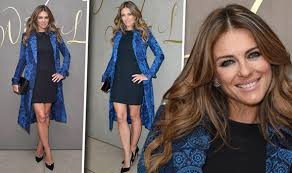 Image | posted on july 10, 2013july 8, 2013 by shinynylon. Elizabeth Hurley Hogs The Spotlight In Thigh Skimming Lbd And Bold Jacket At Burberry Bash Celebrity News Showbiz Tv Express Co Uk