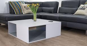 large white and grey wooden coffee table