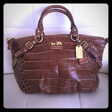 COACH Madison Embossed Exotic Sophia Satchel