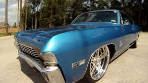 1968 Impala Fastback Ridetech Air Ride Bonspeed - YouTube